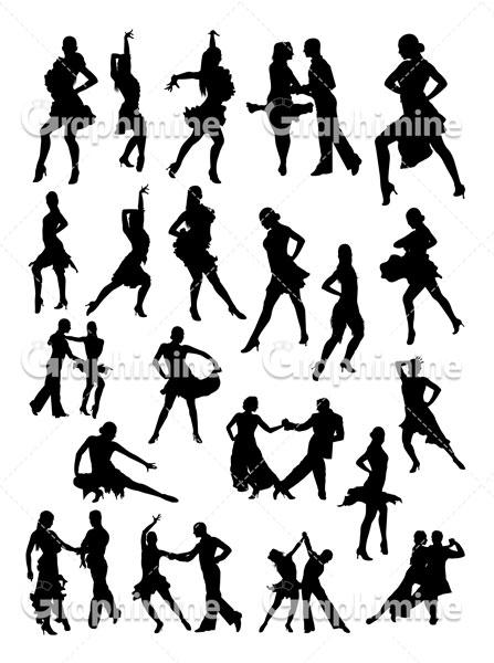 دانلود وکتور سایه رقص سالسا