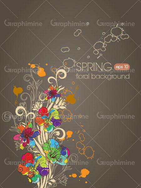 دانلود تصویر وکتور طرح گل رنگی