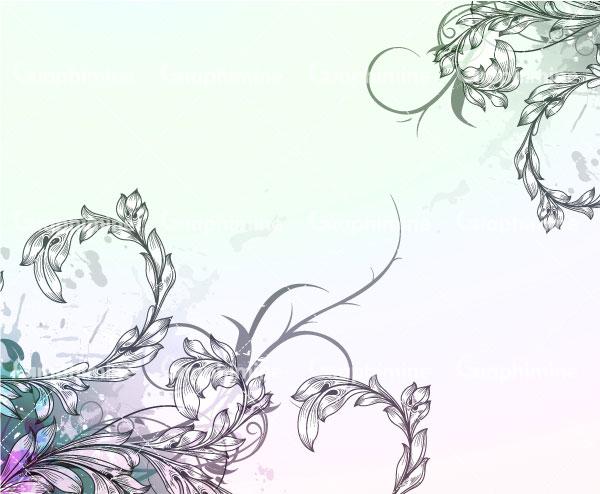 دانلود تصویر وکتور حاشیه گل