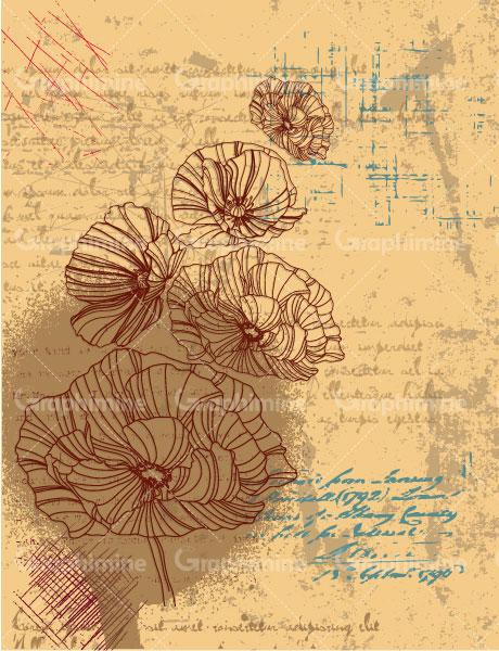 دانلود تصویر وکتور زمینه طرح گل