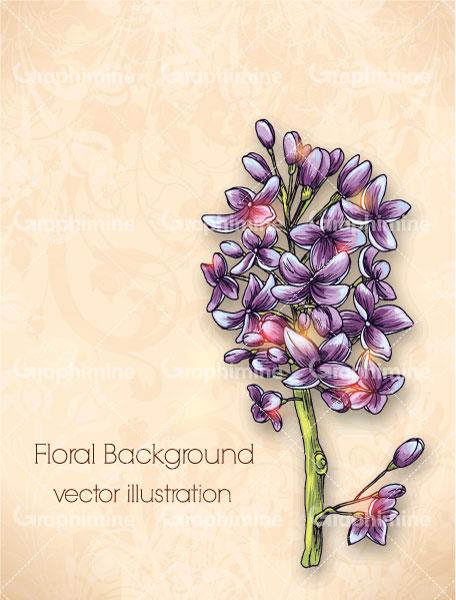 دانلود تصویر وکتور گل بنفش