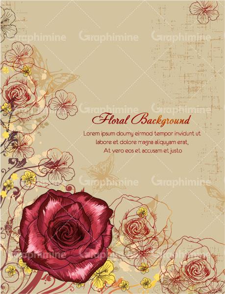 دانلود تصویر وکتور گل سرخ