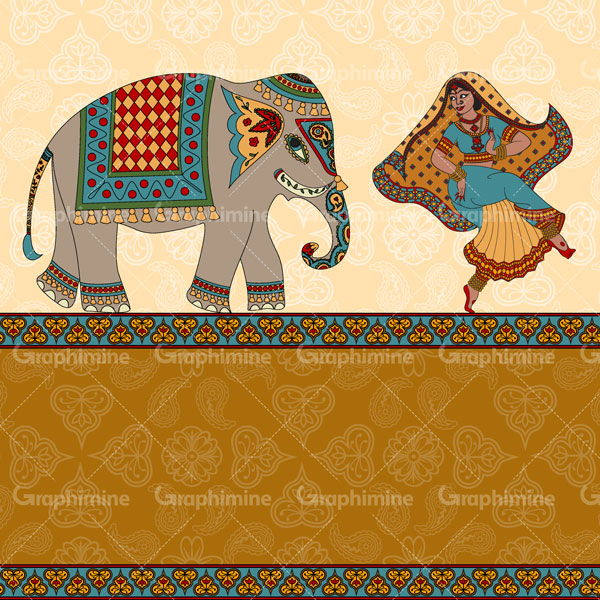 دانلود وکتور نقش و نگاره طرح فیل