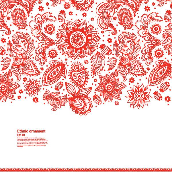 دانلود وکتور گل و بوته قرمز