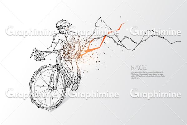 دانلود تصویر وکتور انتزاعی دوچرخه سوار