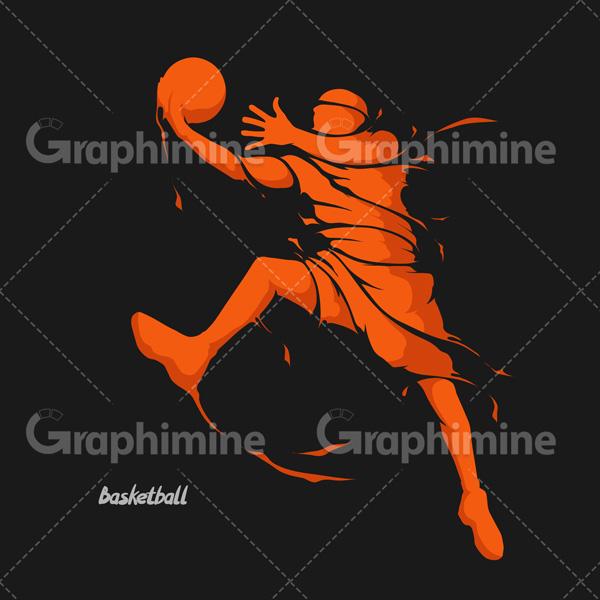 دانلود تصویر وکتور بسکتبالیست