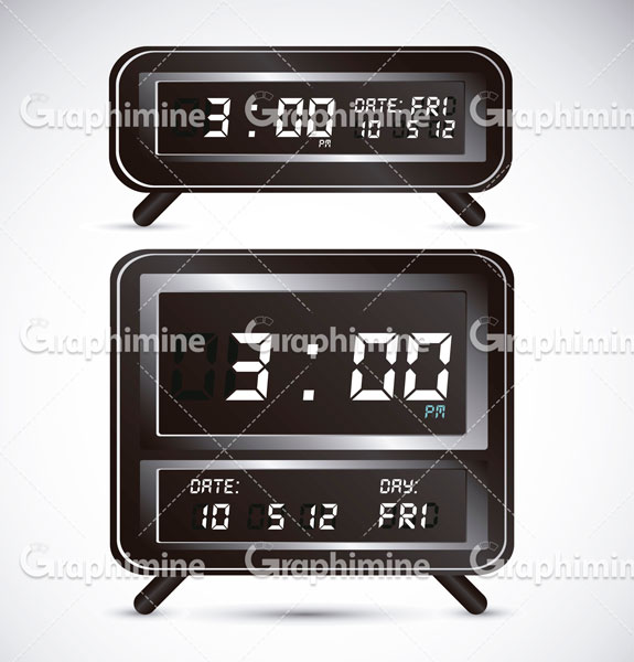 دانلود تصویر وکتور ساعت دیجیتالی رومیزی