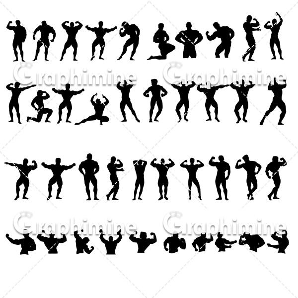 دانلود تصویر وکتور سایه ورزش بدنسازی فیتنس