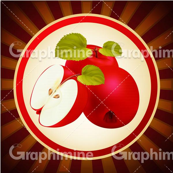 دانلود تصویر وکتور سیب قرمز