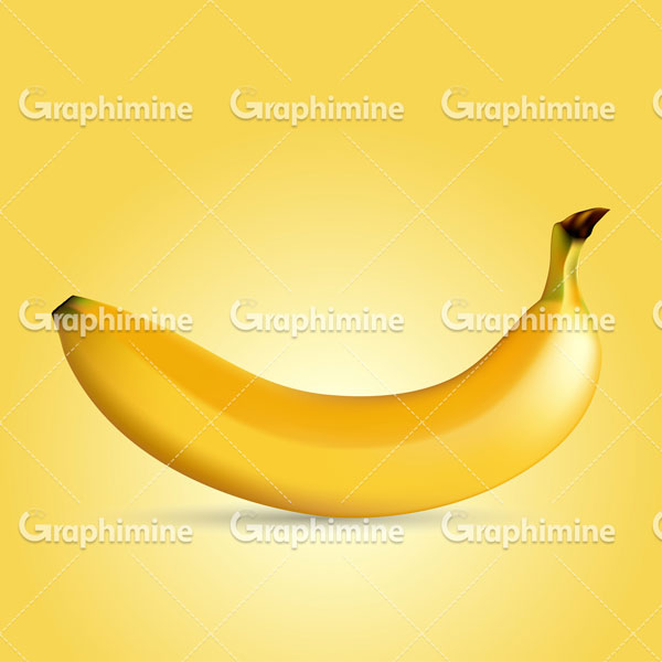 دانلود تصویر وکتور طرح میوه موز