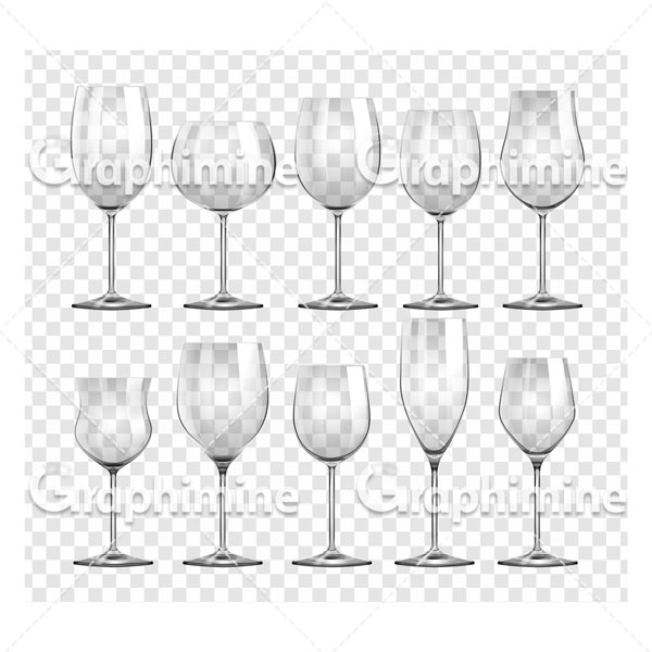 دانلود تصویر وکتور مجموعه لیوان شیشه ای