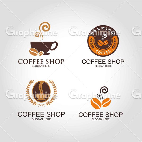 دانلود تصویر وکتور نمونه لوگو قهوه فنجان