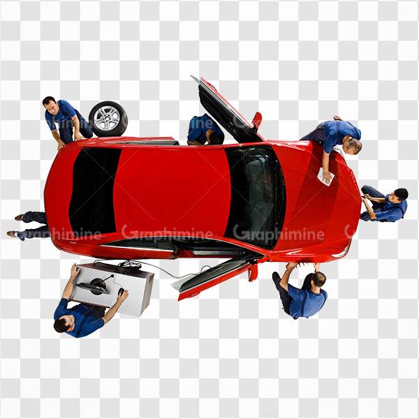 دانلود تصویر Png تیم تعمیر و نگهداری اتومبیل