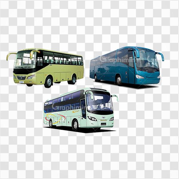 دانلود تصویر png اتوبوس های مختلف
