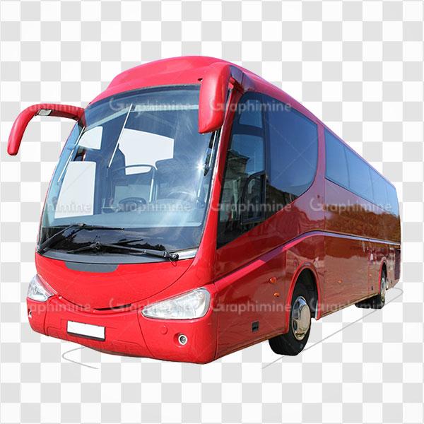 دانلود تصویر png اتوبوس قرمز