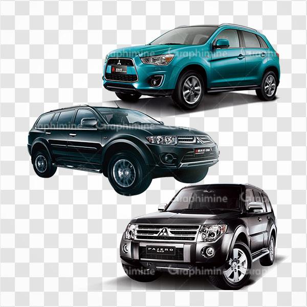 دانلود تصویر png سه مدل خودرو میتسوبیشی