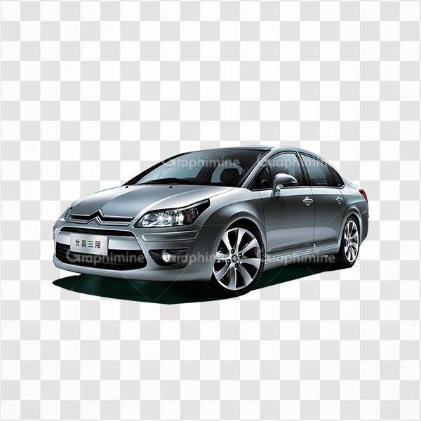 دانلود تصویر png خودرو سیتروئن نقره ای