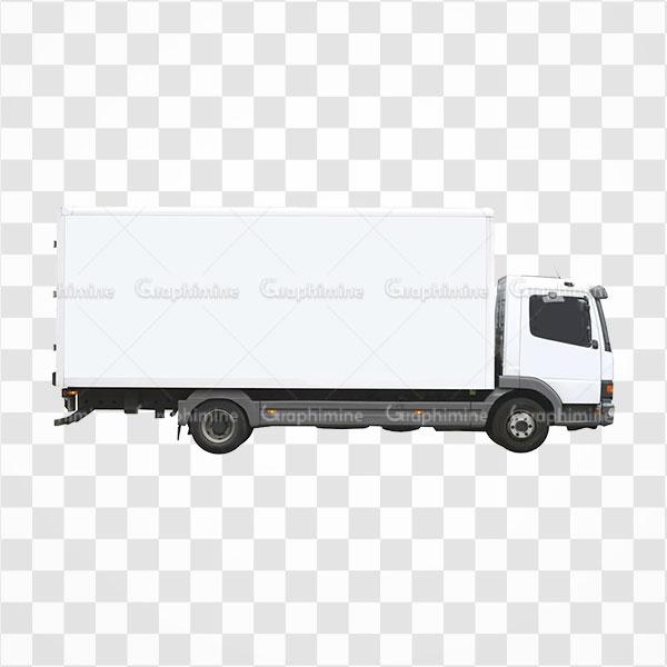 دانلود تصویر png کامیون باری کوچک سفید