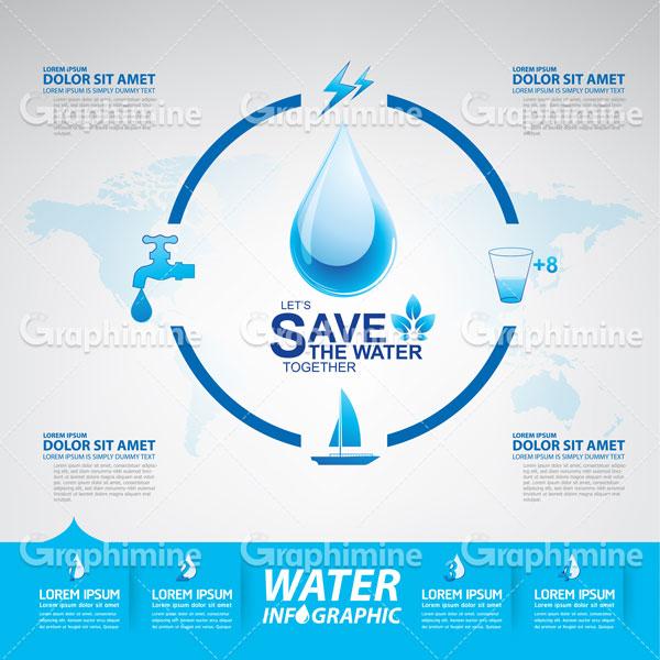 دانلود طرح وکتور صرفه جویی در آب