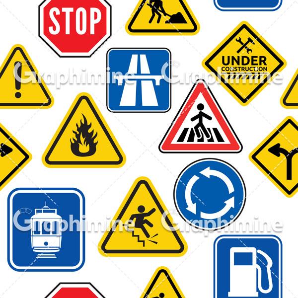 دانلود وکتور تابلوهای علائم راهنمایی و رانندگی