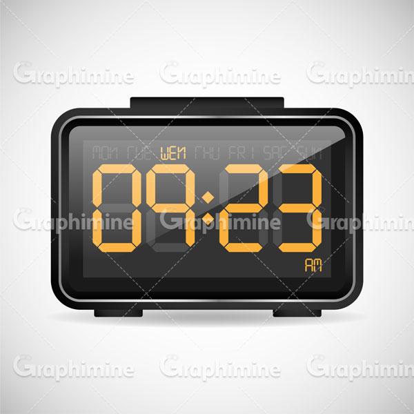 دانلود وکتور ساعت دیجیتال رومیزی