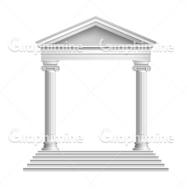 دانلود وکتور ستون و نمای باستانی