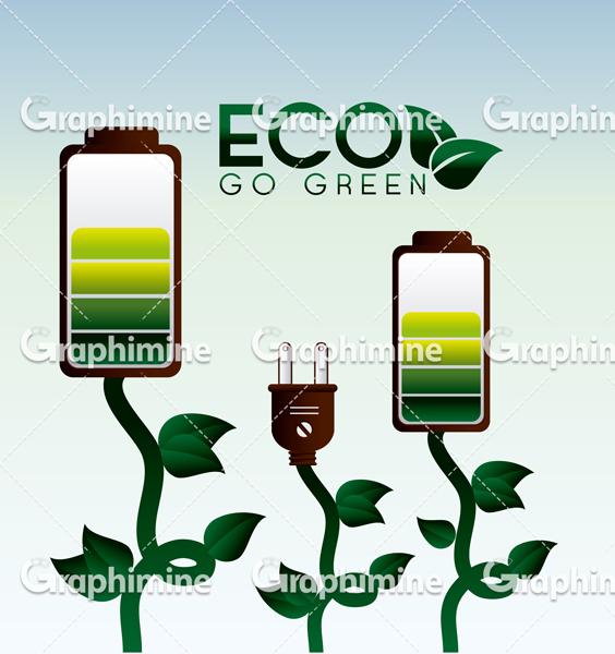 دانلود وکتور طرح انرژی سبز پاک