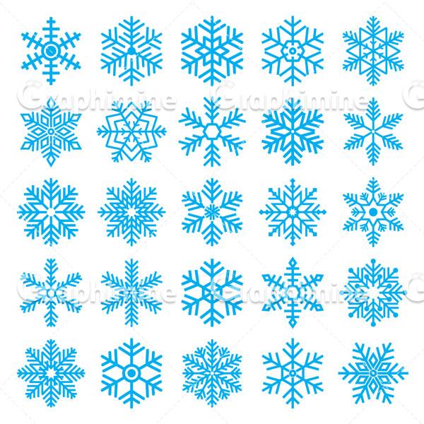 دانلود وکتور طرح دانه های برف مختلف