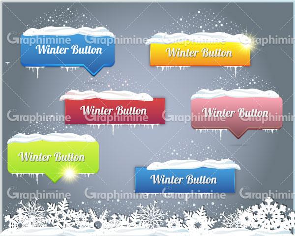 دانلود وکتور طرح زمستانی کادرهای رنگی
