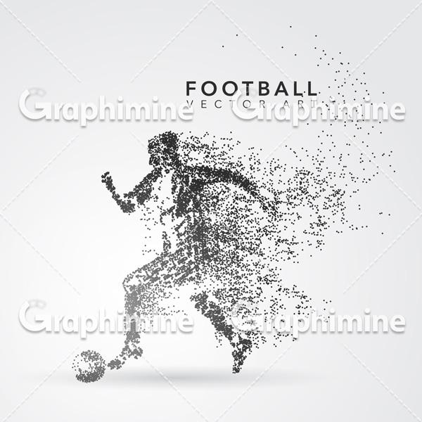 دانلود وکتور طرح گرافیکی ذرات فوتبالیست