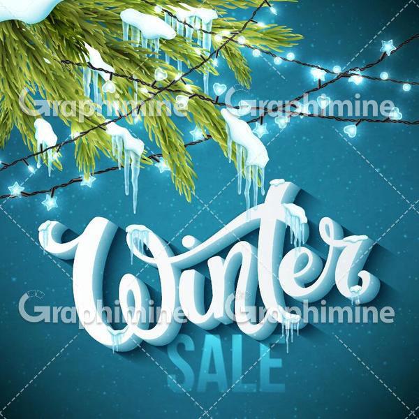 دانلود وکتور فصل زمستان فروش زمستانه