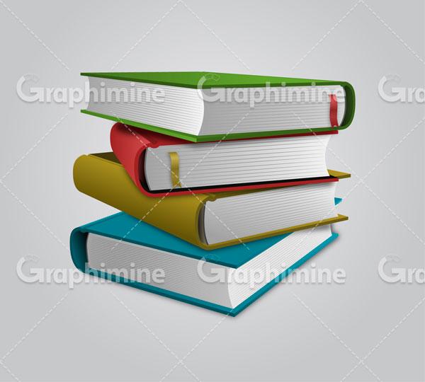 دانلود وکتور مجموعه کتاب