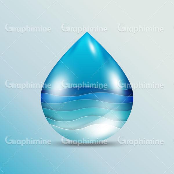 دانلود وکتور موج آب در قطره