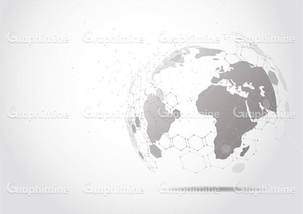 دانلود وکتور نقشه زمین نقاط اتصال
