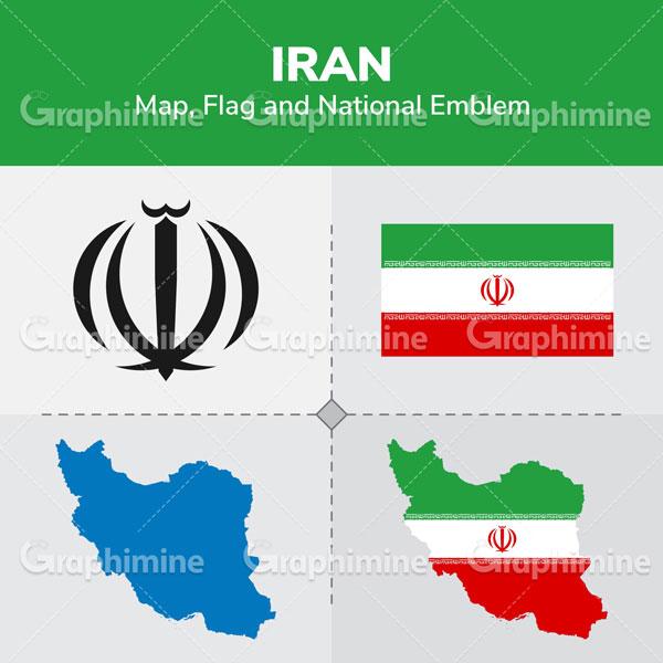 دانلود وکتور نقشه و پرچم ایران