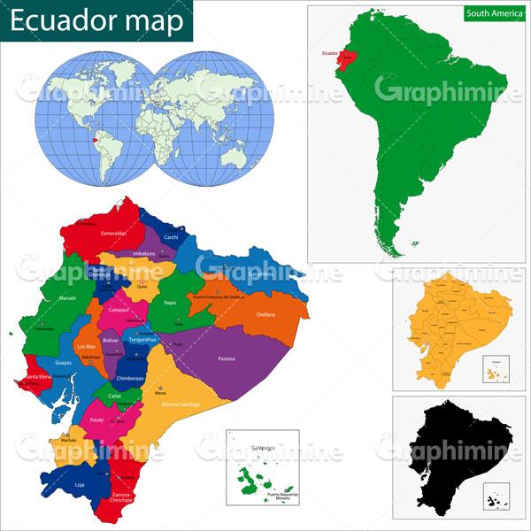 دانلود وکتور نقشه کشور اکوادور
