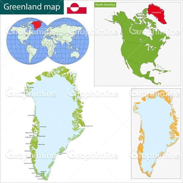 دانلود وکتور نقشه گرینلند