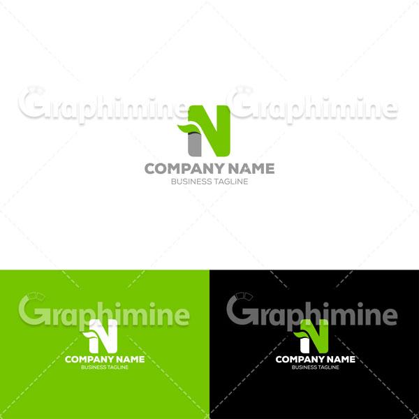 دانلود وکتور نمونه لوگو ارگانیک و سبز حرف N