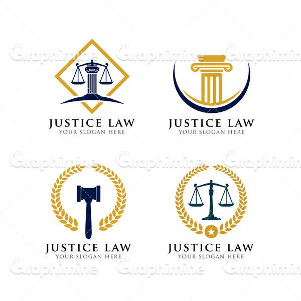 دانلود وکتور نمونه لوگو قانون عدالت دستگاه قضا