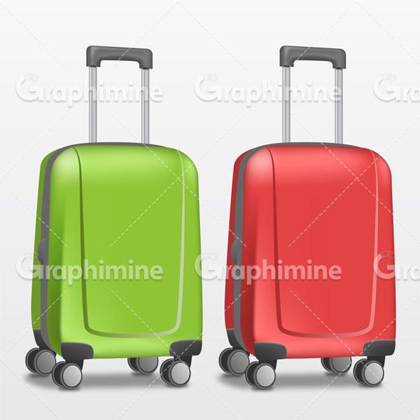 دانلود وکتور چمدان مسافرتی