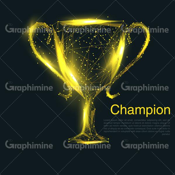 دانلود وکتور کاپ قهرمانی طلایی