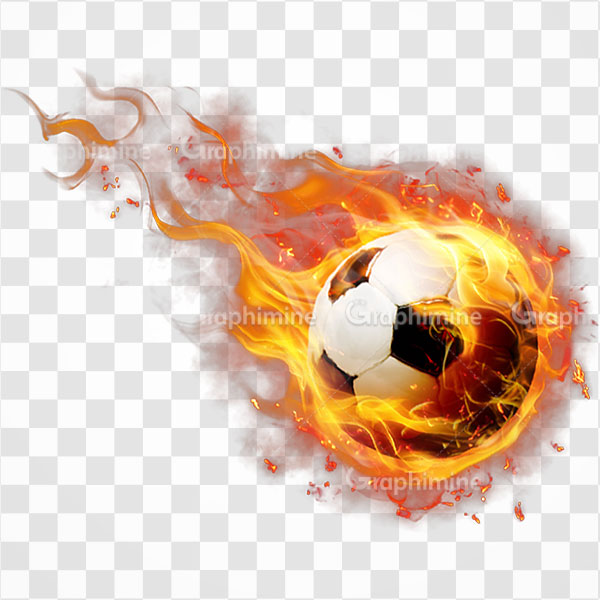 دانلود تصویر png توپ فوتبال شعله ور