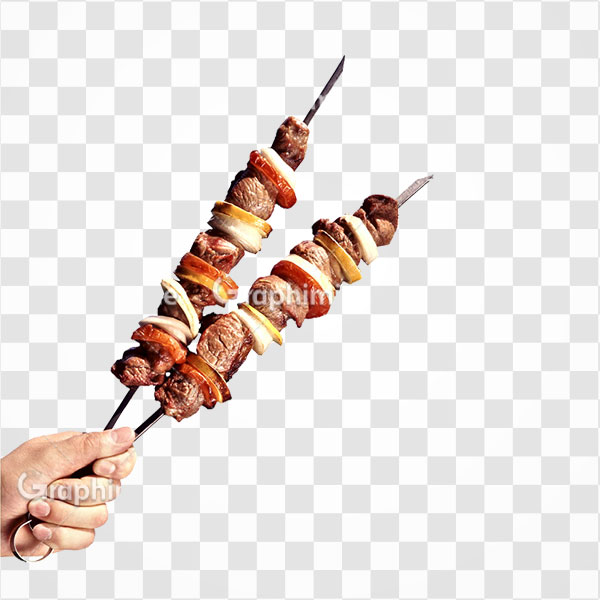 دانلود تصویر png دو سیخ کباب گوشت