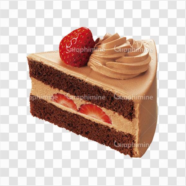 دانلود تصویر png کیک شکلاتی و توت فرنگی