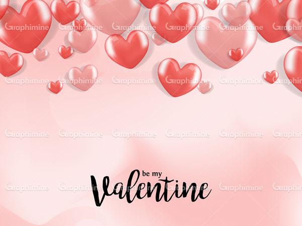 دانلود طرح وکتور تبریک ولنتاین با قلب صورتی