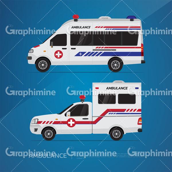 دانلود طرح وکتور خودرو آمبولانس