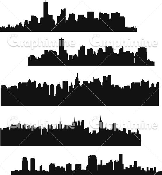 دانلود طرح وکتور سایه شهرها