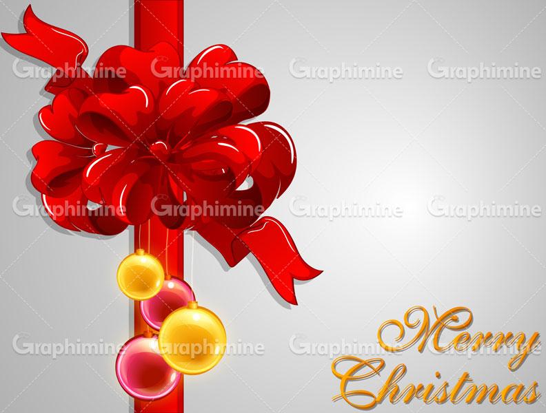 دانلود وکتور روبان قرمز کریسمس