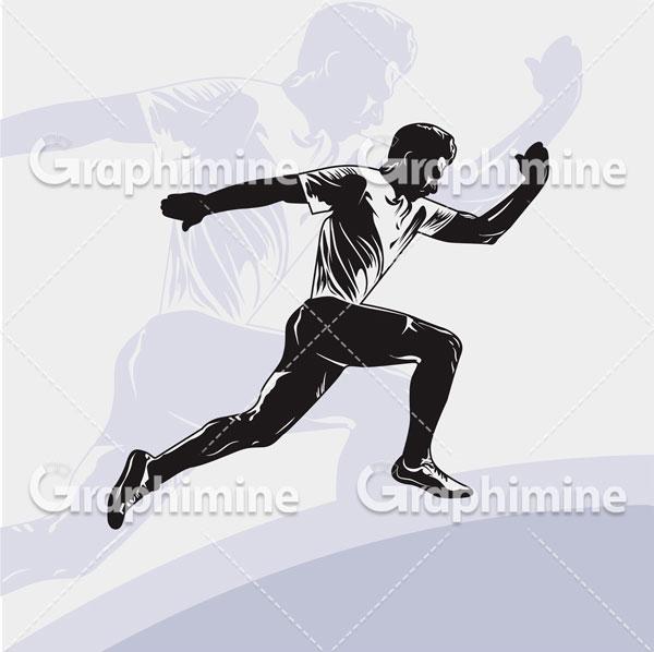 دانلود وکتور سایه ورزشکار دونده