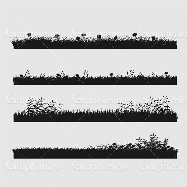 دانلود وکتور سایه چمن گیاه